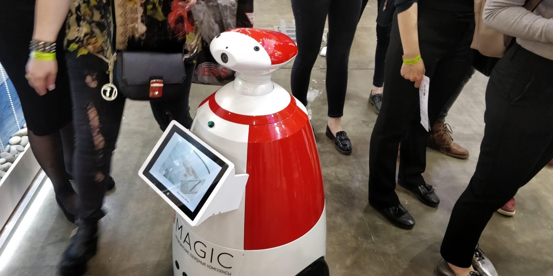 Выставка «INTERCHARM 2018». Робот РБот 100 Плюс.